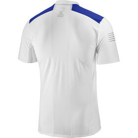 Salomon Fast Wing SS Tee Men white/surf the web